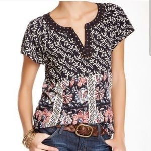 Lucky Brand Floral Studded Top